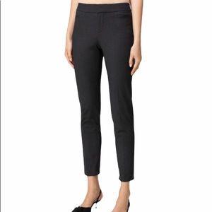 Ecru dark gray cropped dress pants